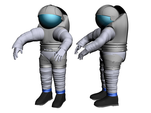 NASA exploration space shuttle suit, (.3ds) 3D Studio Max software.