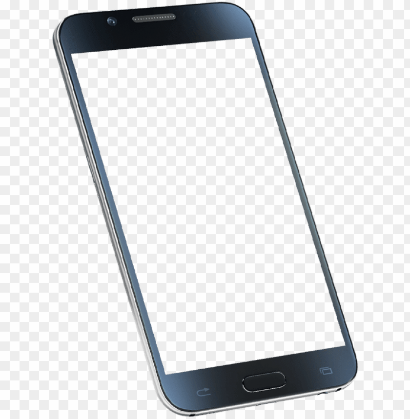 3d mobile frame PNG image with transparent background.