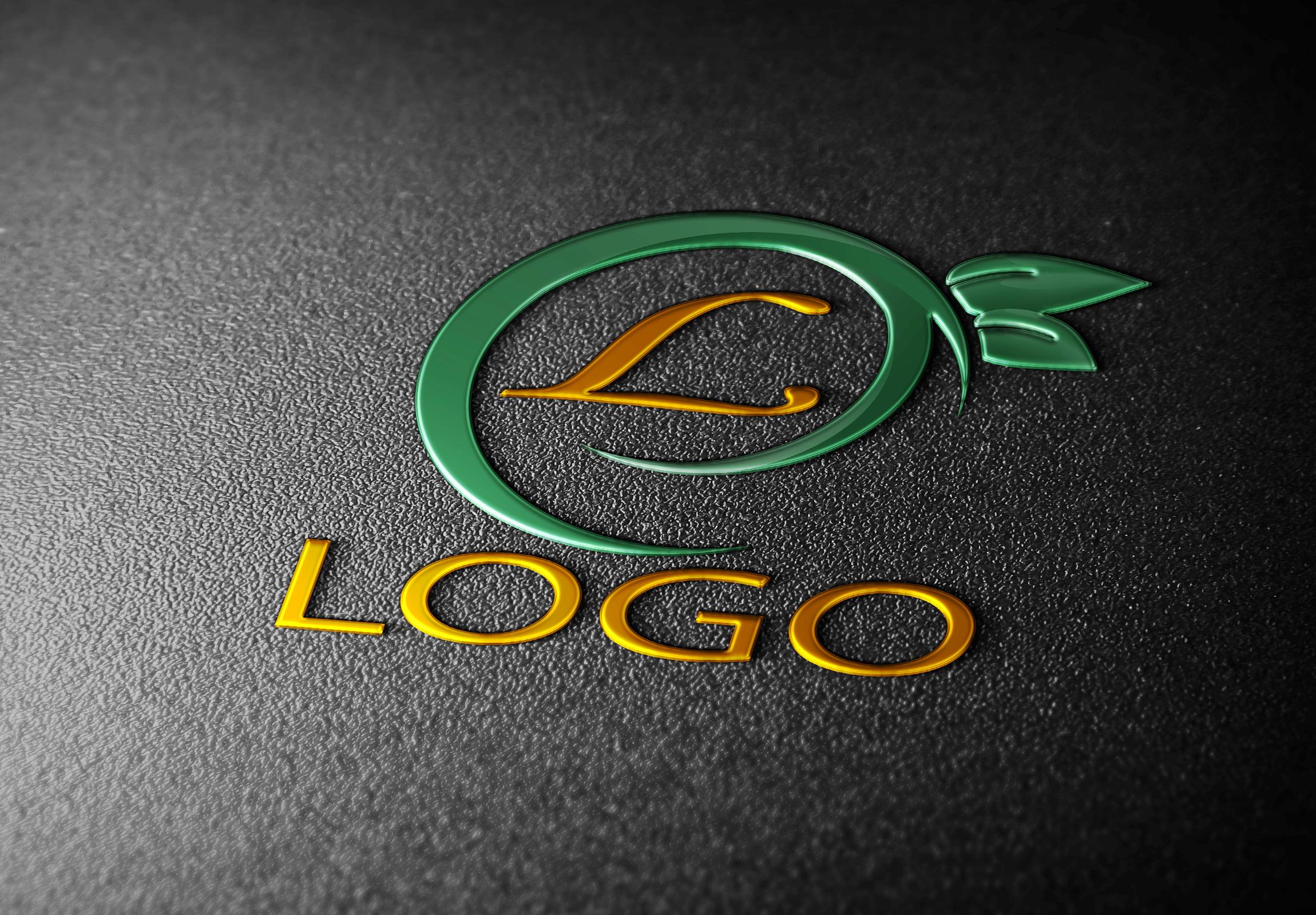3d mockup logo 4