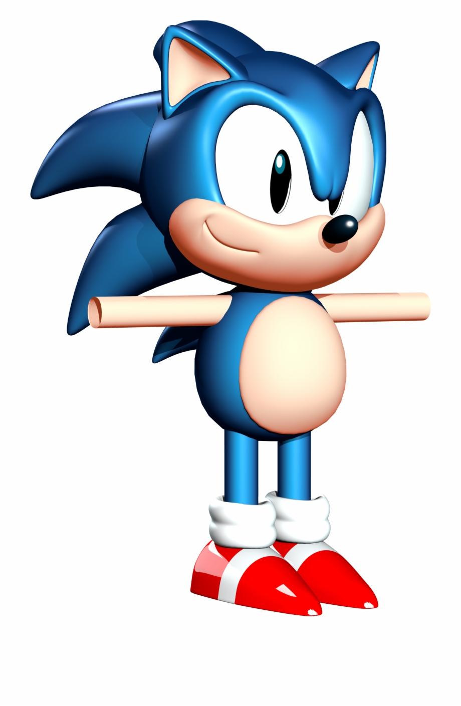 Classic Usa Sonic 3d Model.