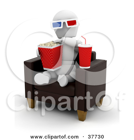 Clipart 3d Fountain Soda Box Of Candy And Movie Popcorn.
