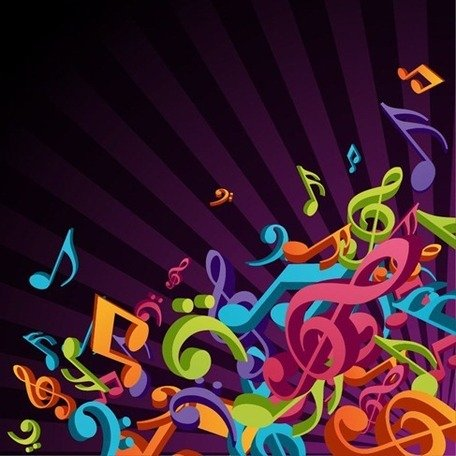 3D Colorful Music Clipart Picture Free Download.