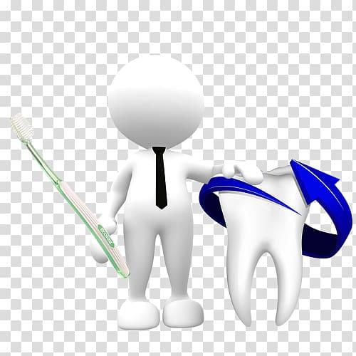 Toothache Gums Dentist, 3D villain and teeth transparent.