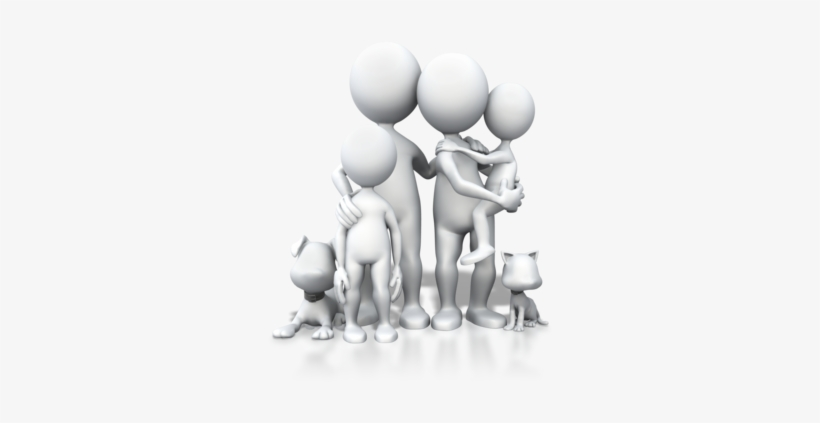 3d People Family Png Transparent PNG.