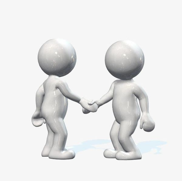 Shake Hands With The Two 3d People PNG, Clipart, Agreement, Become.