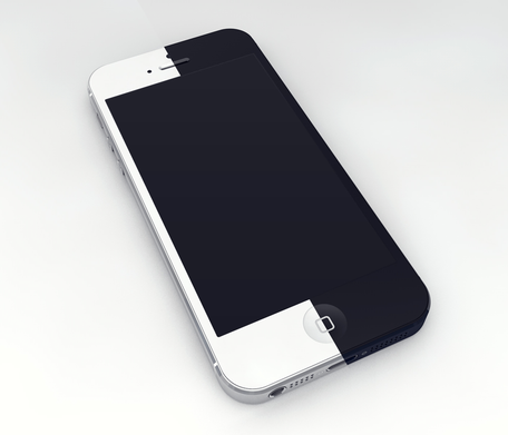 iPhone 5 3D Mockup Template Clipart Picture Free Download.