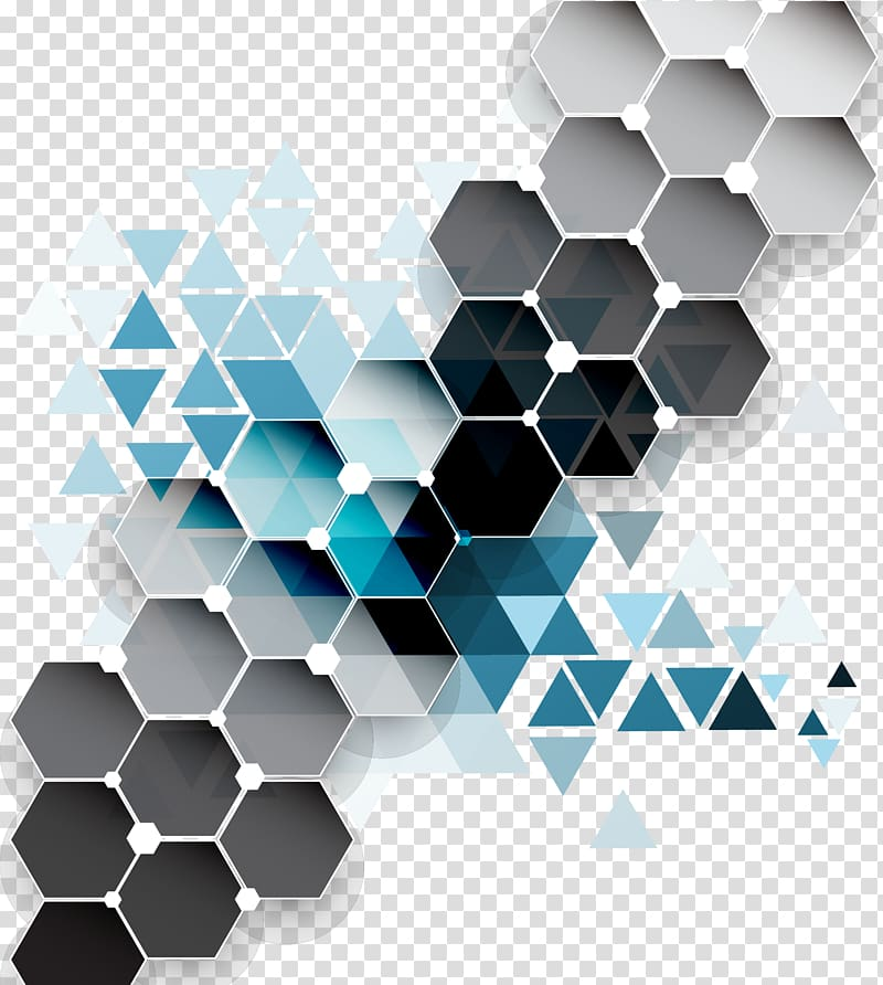 Triangle Geometry, Colorful diamond background , gray and blue 3D.