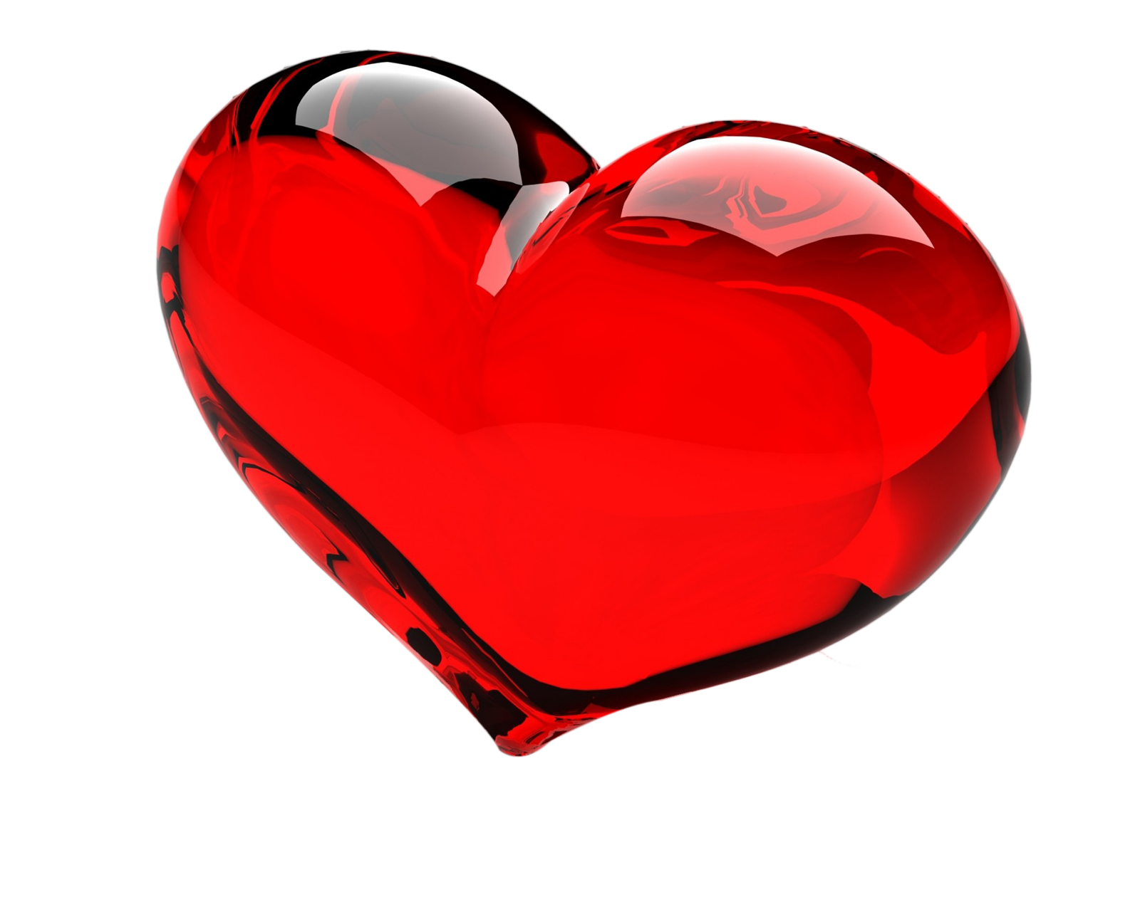 Single 3D Red heart PNG 15 images free download.