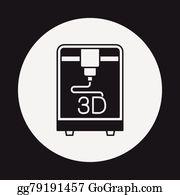 3D Printing Clip Art.