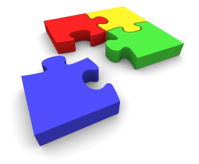 Jigsaw puzzle clipart 3d.