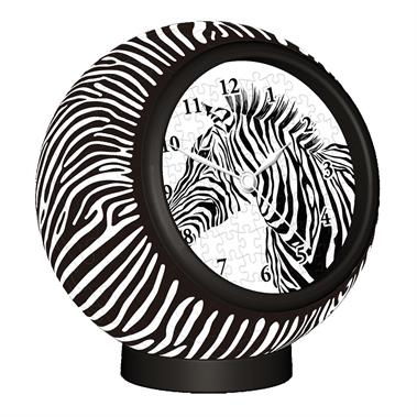 Details about Pintoo Puzzle Clock Zebra Pattern 145 Piece with Working  Clock KC1004.