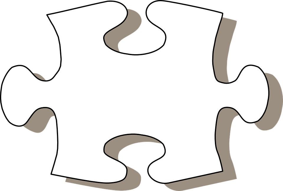 Puzzle Clipart Black And White.