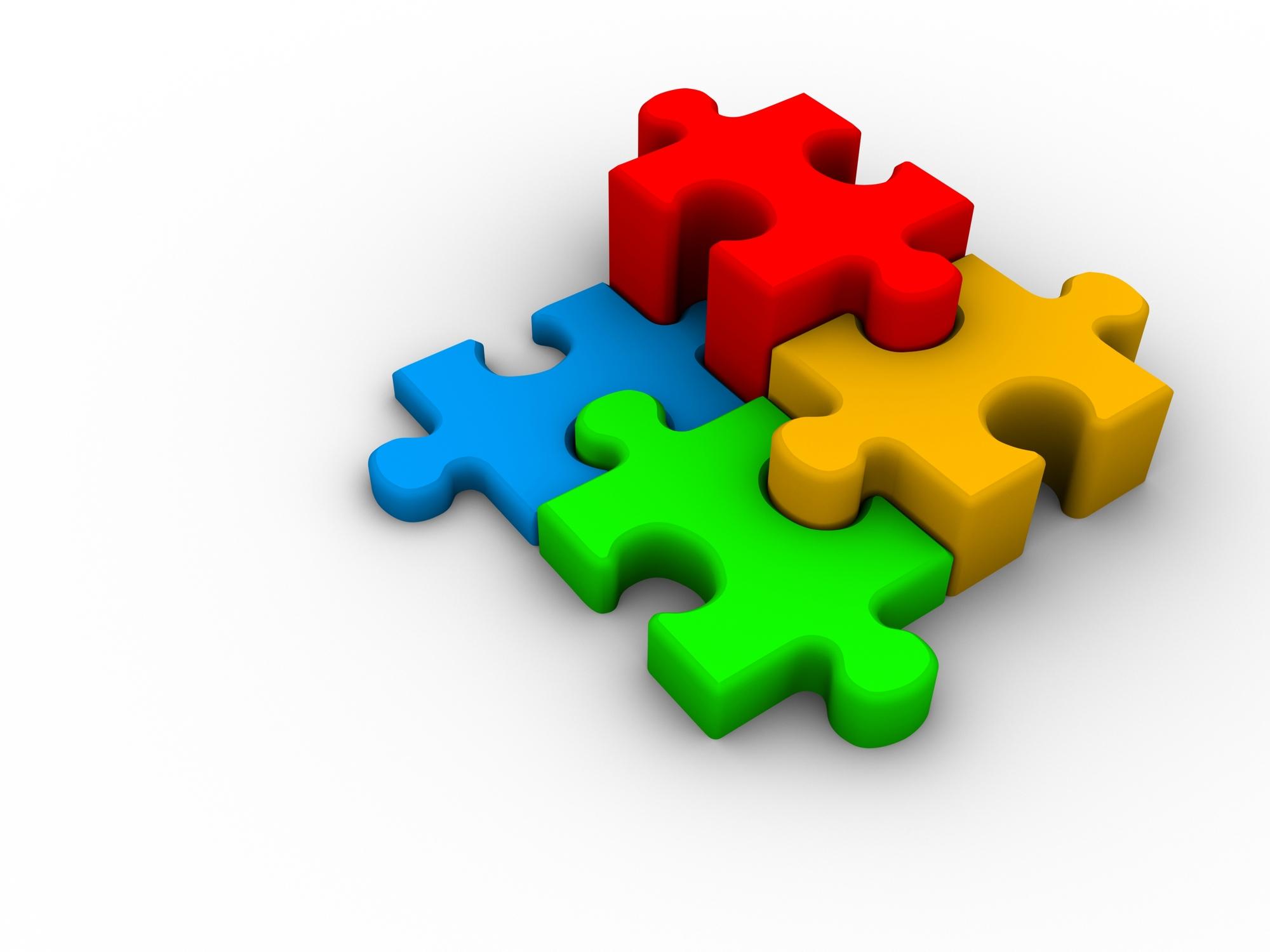 Puzzle Clipart 3 D.