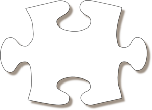 Jigsaw White Puzzle Piece Large Shadow Clip Art at Clker.com.