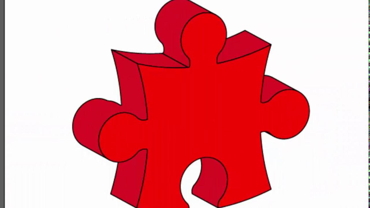 3d puzzle piece.