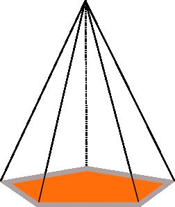 3d Pyramid Outline Clip Art.