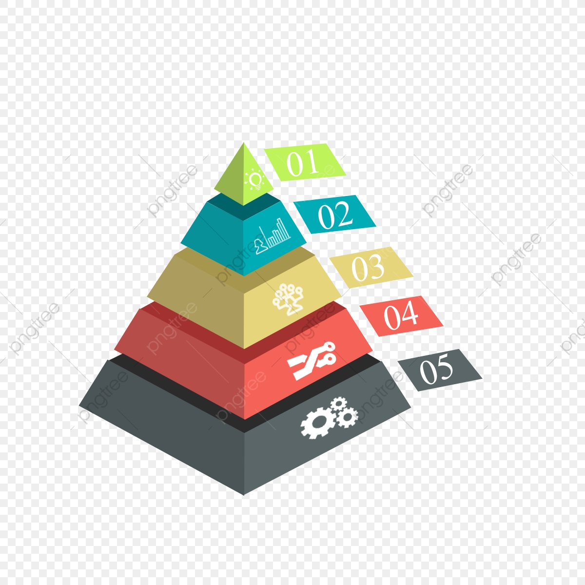 3d Pyramid Infographic Vector Design Free, Free, Download.