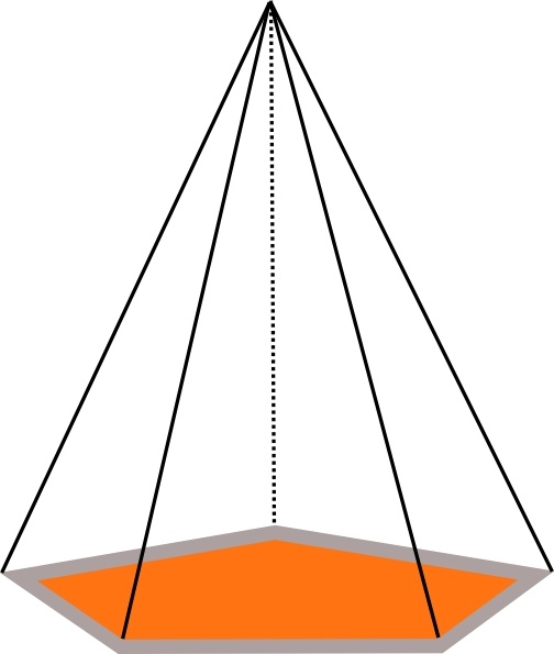 3d Pyramid Outline clip art Free vector in Open office.