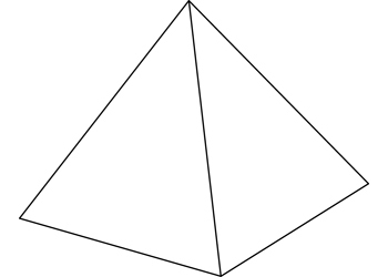 3d Pyramid Clipart Black And White.