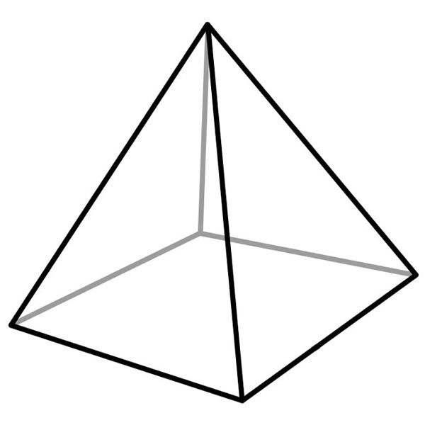 Pyramid Shape Clipart.