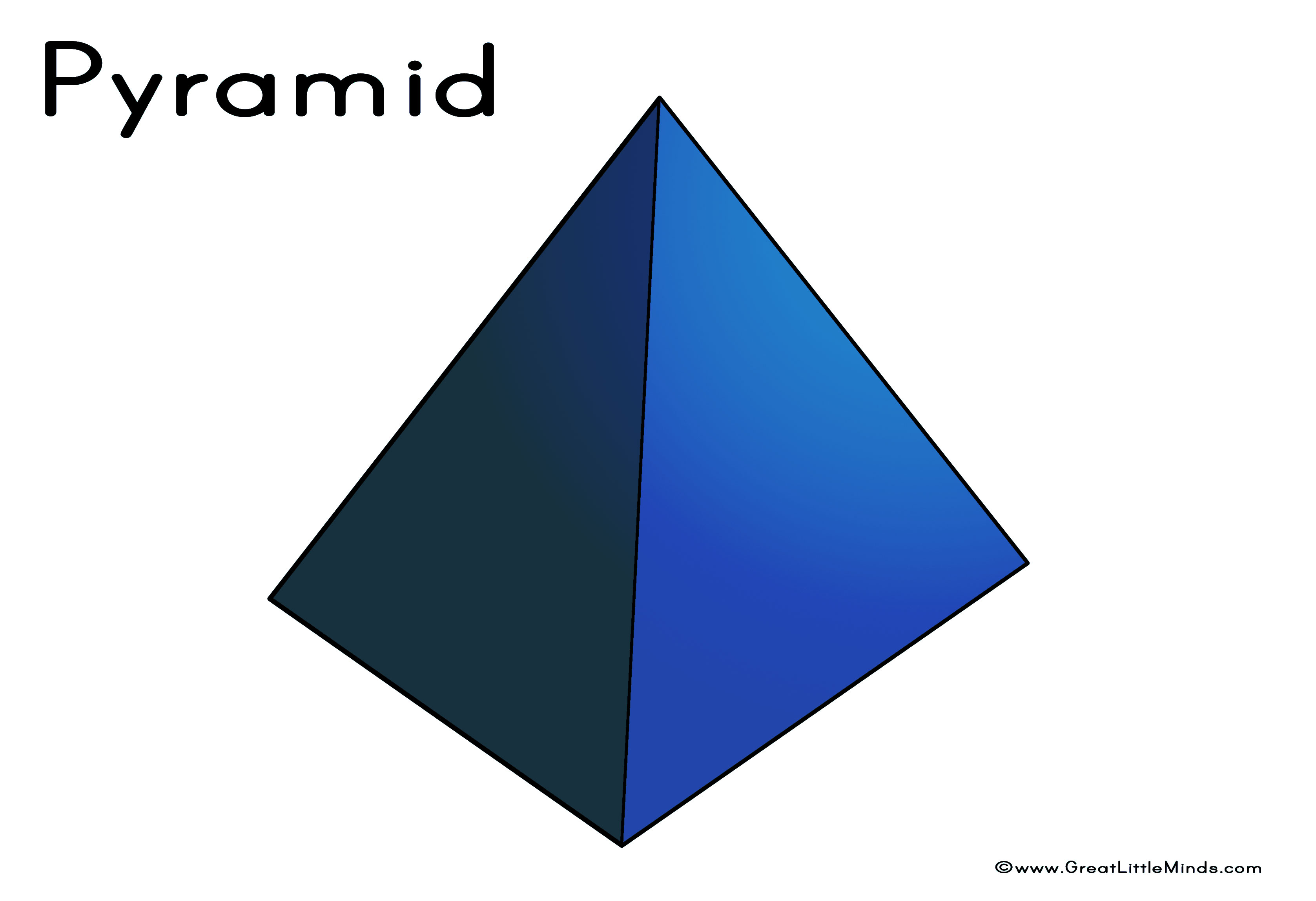 Pyramid 3D Shape.