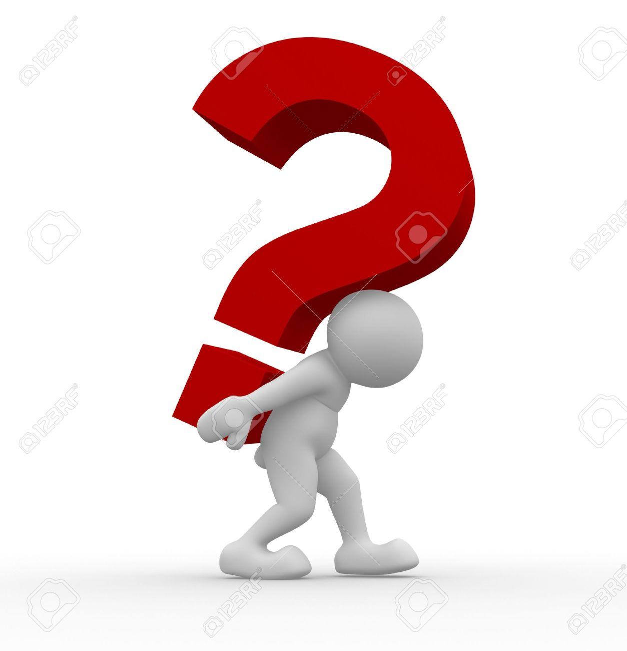 3d Human Question Mark Clipart.