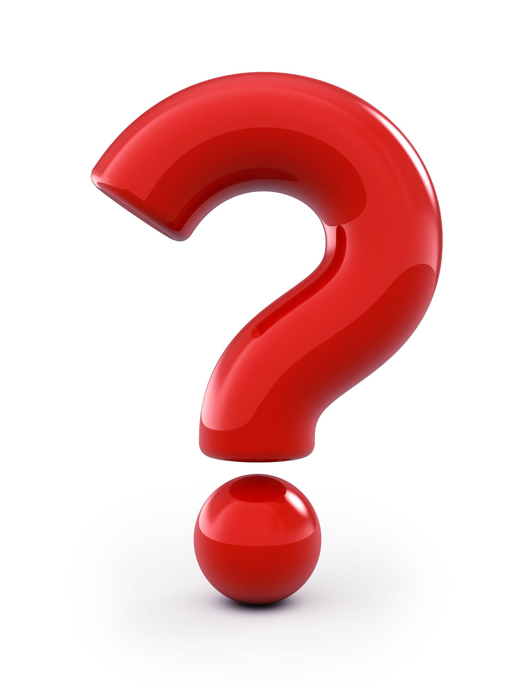 Clipart Question Mark 3d.