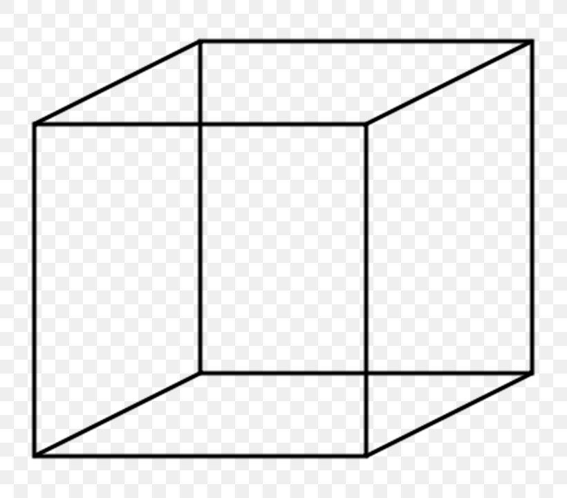Necker Cube Clip Art, PNG, 800x720px, Cube, Area, Black.