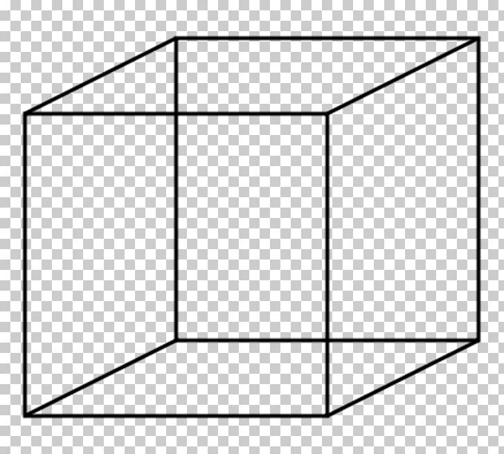 Necker cube , 3d rectangular carton box PNG clipart.