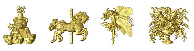 The 3D Relief Clipart Library in ArtCAM Insignia.