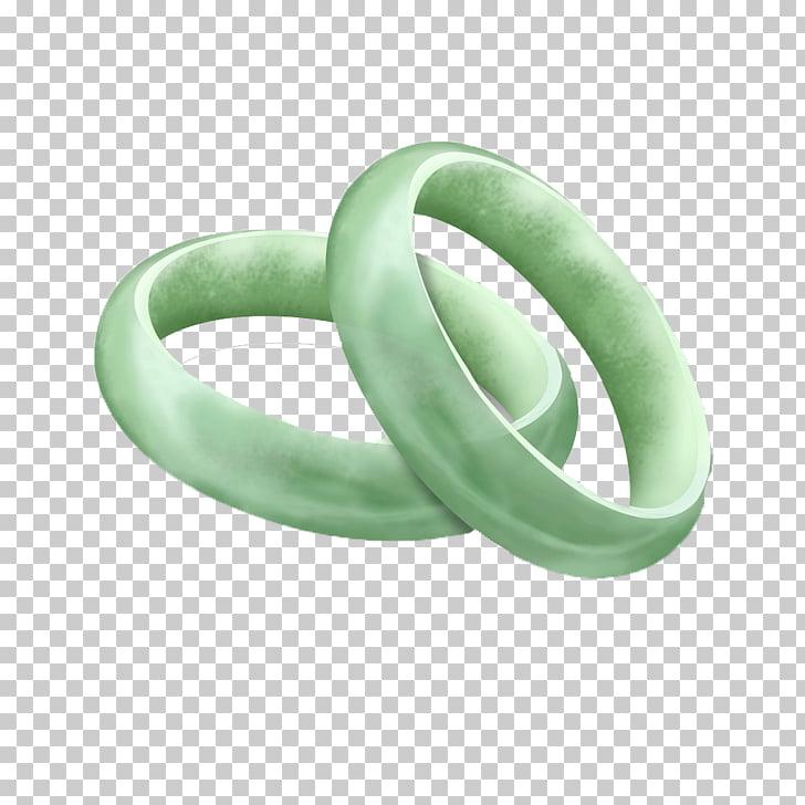 Bangle Ring Green Jade, 3D bracelet PNG clipart.