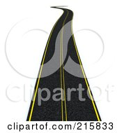 Clipart of a 3d Road with Cars in Traffic Around a Grassy Planet.