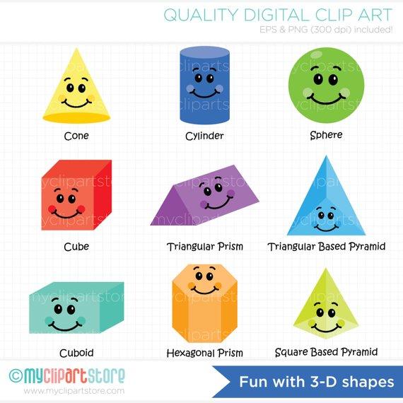 3d shapes clipart » Clipart Station.
