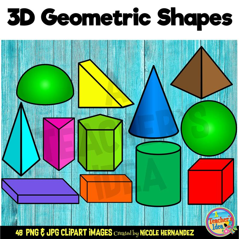 3D Shapes Clipart for Commercial Use, PNG Images.