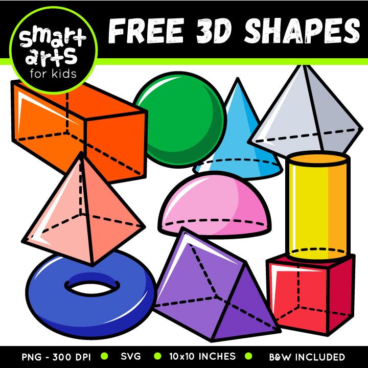 FREE 3D Shapes Clip Art.
