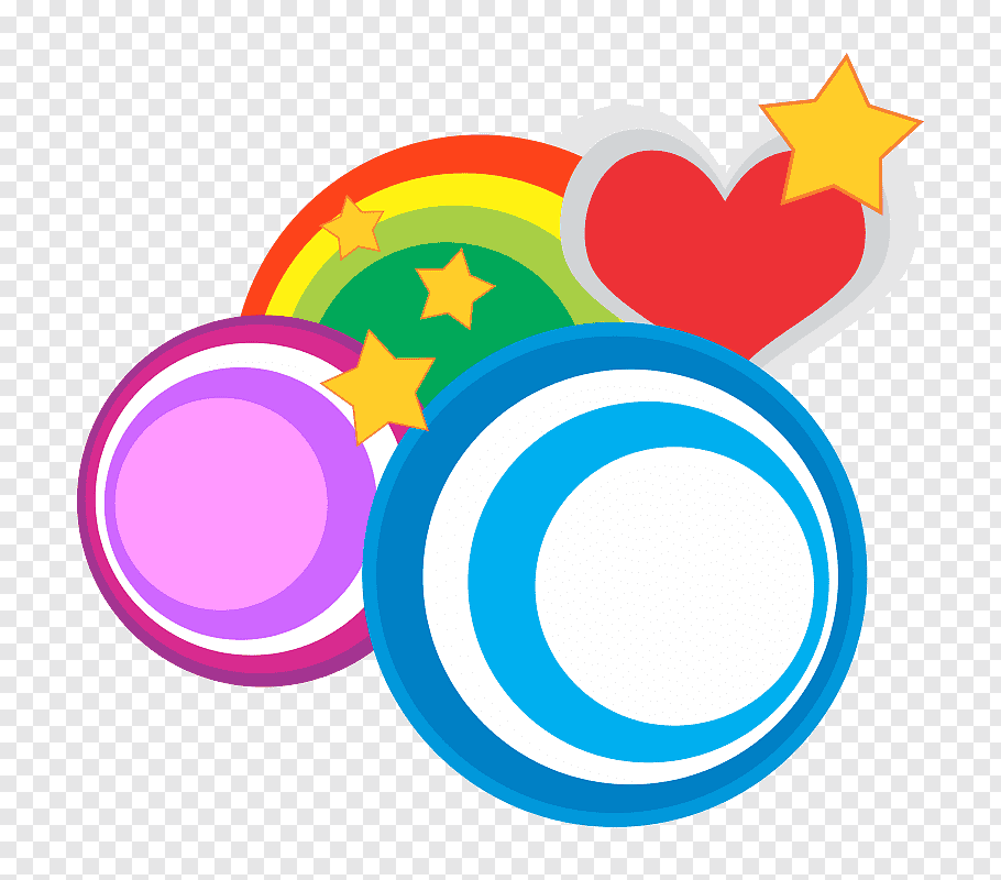 Heart and stars illustration, Circle Shape, Heart circle.