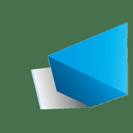 3d triangle shape.