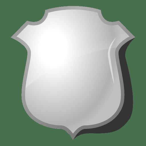 3d polished shield emblem.