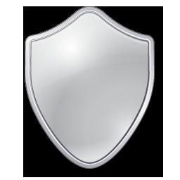 Grey, shield icon.