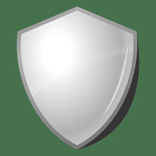 3d glossy shield emblem label.