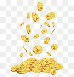 A Pile Of Gold Coins, Gold, Yellow, Money PNG Transparent.