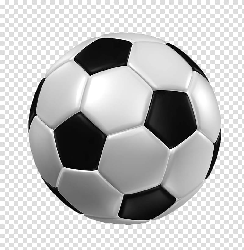 White and black soccer, Football 3D computer graphics.