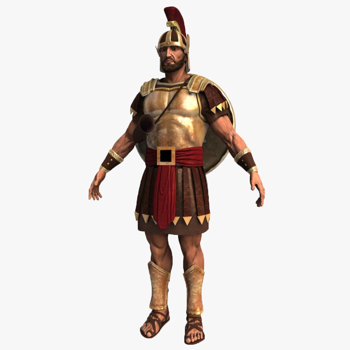 3d model of roman soldier.