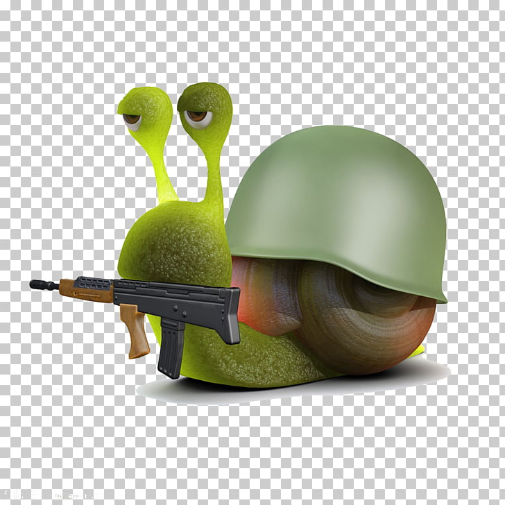 Snail Soldier 3D computer graphics Illustration, Take a.