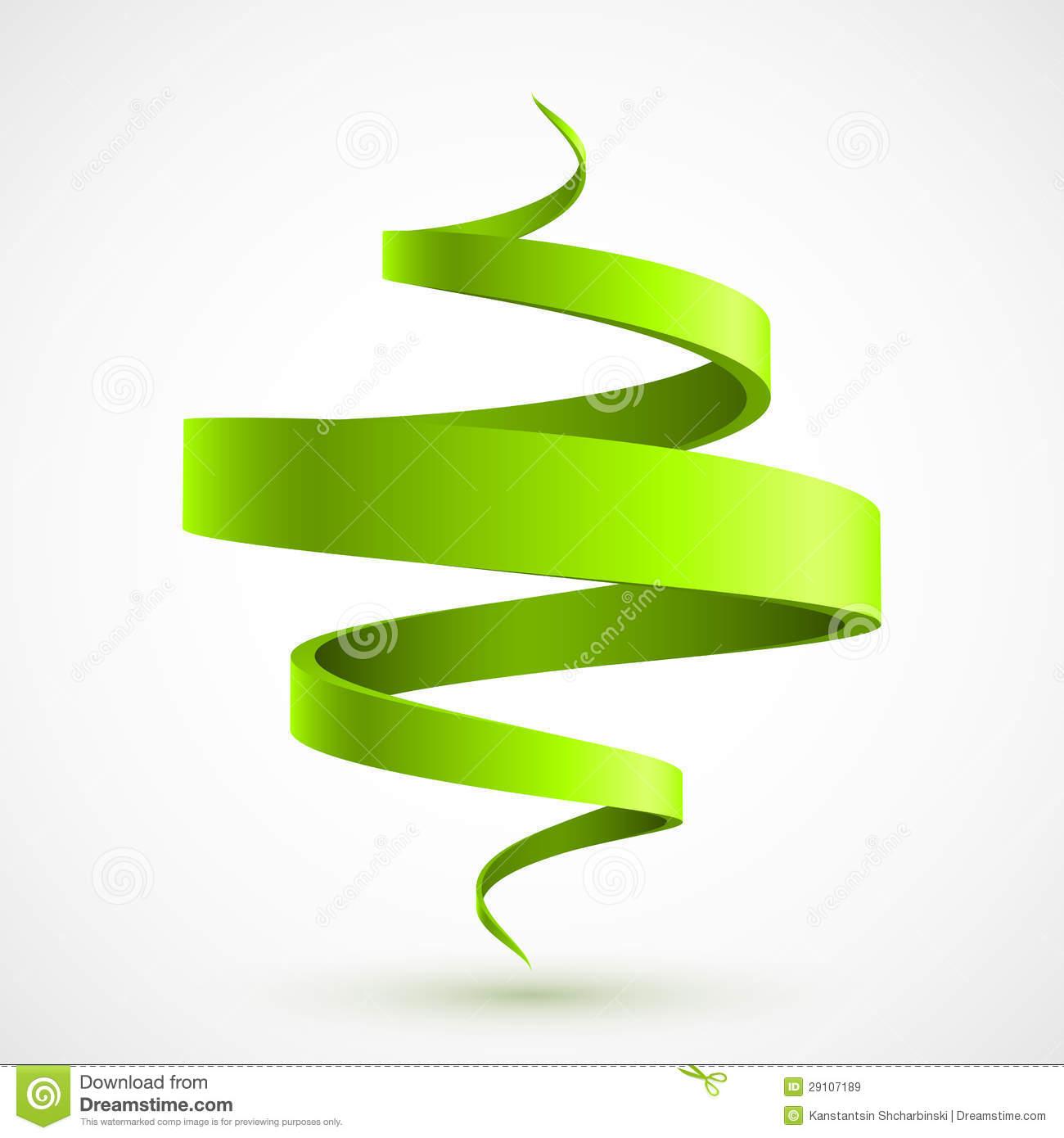 Green spiral 3D stock vector. Illustration of creativity.