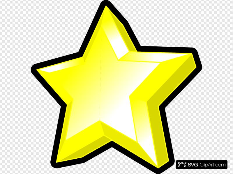 3d Star Clip art, Icon and SVG.