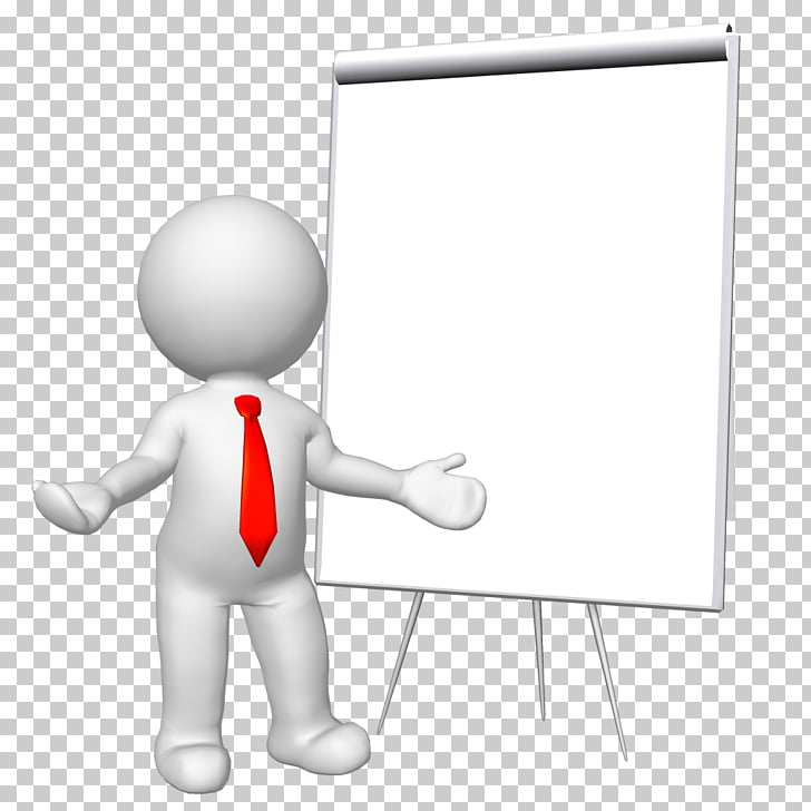 Stick figure , 3d, standing person beside projector canvass.
