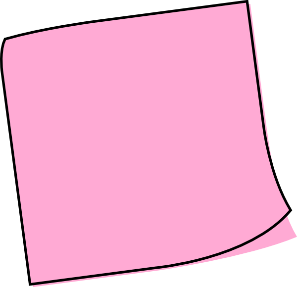 pink note.
