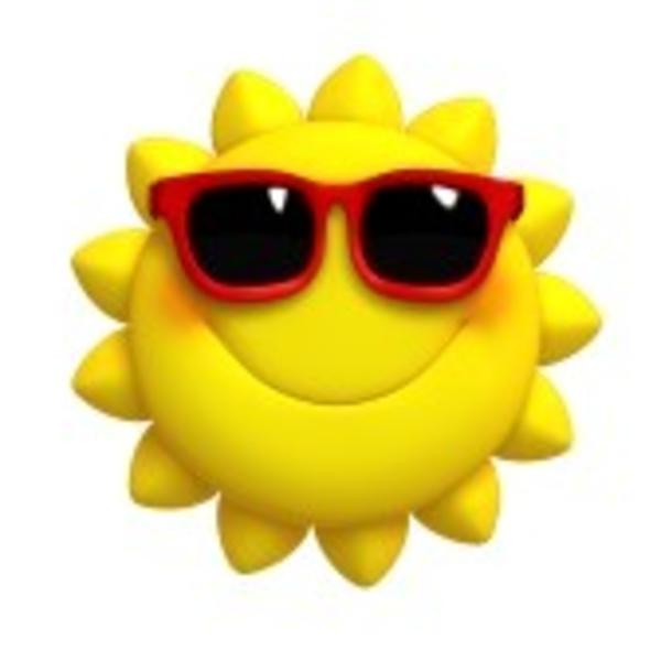 D Cartoon Cute Sun.