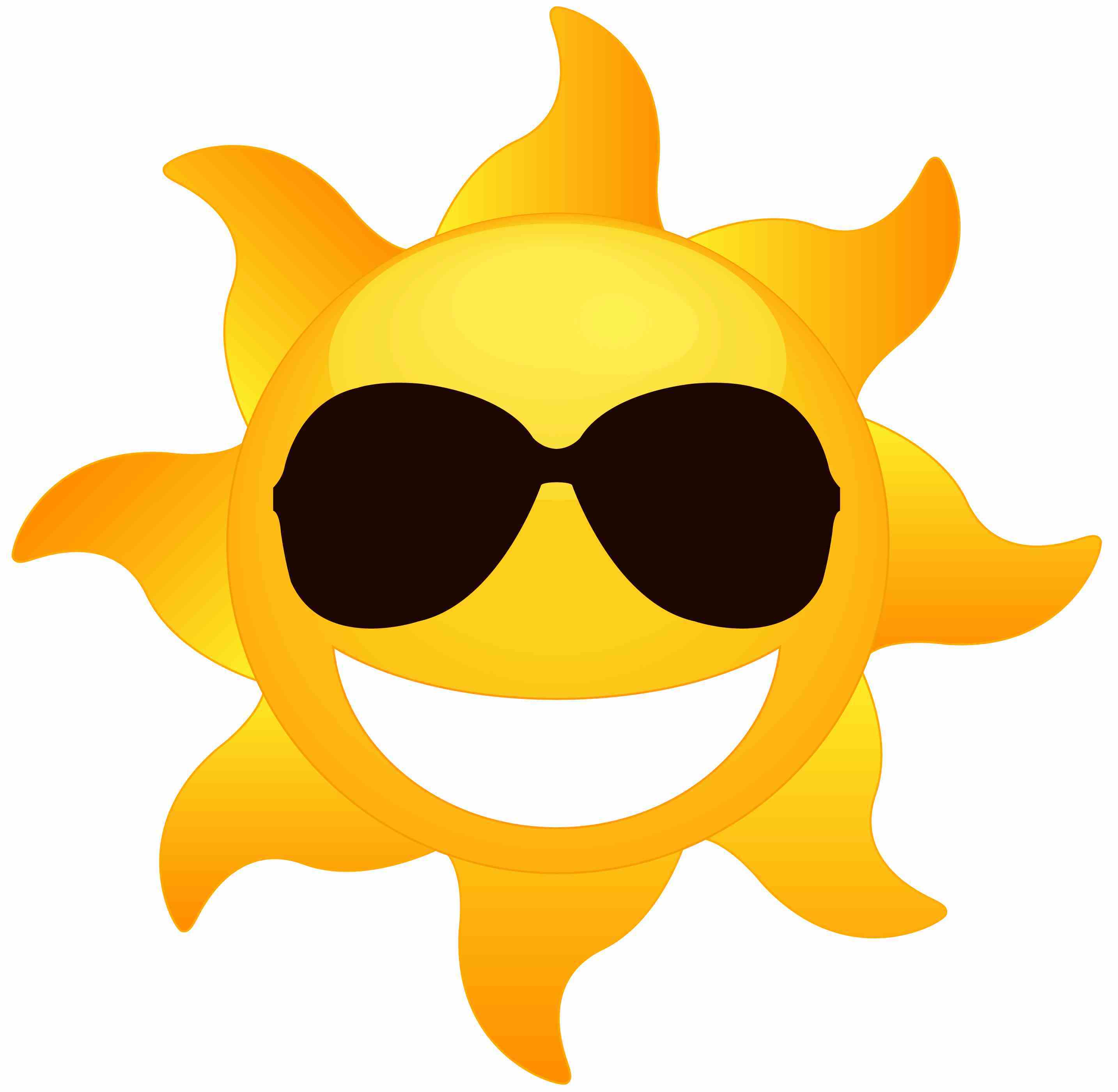 Sun Wearing Sunglasses Coloring Page.